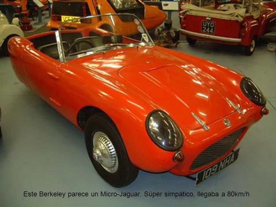 Este Berkeley parece un Micro-Jaguar. Súper simpático, llegaba a 80km/h