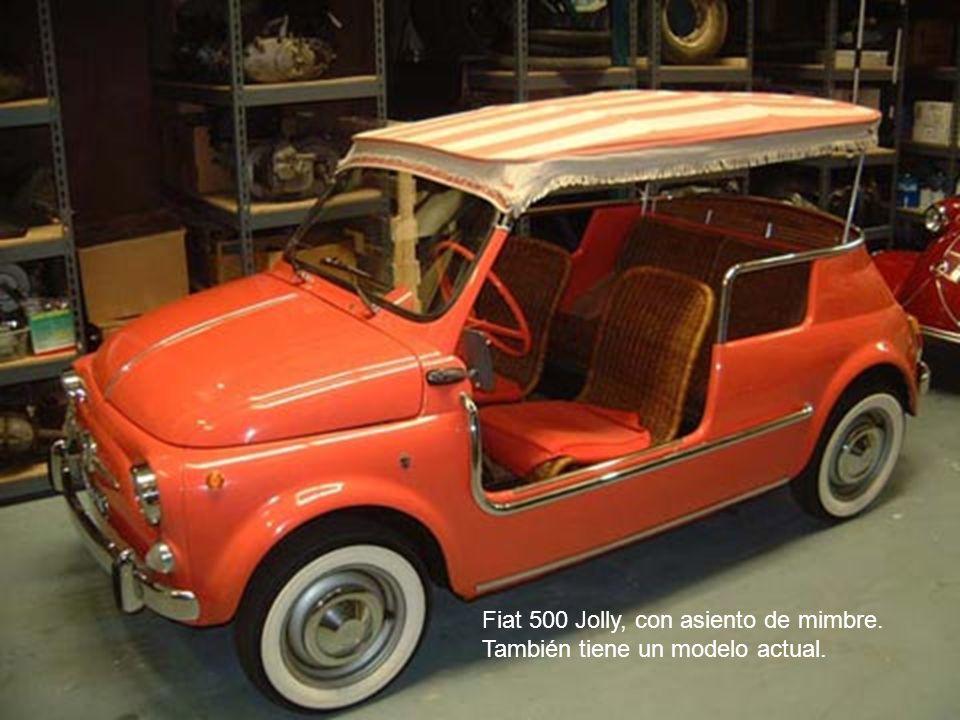 Fiat 500 Jolly, con asiento de mimbre.