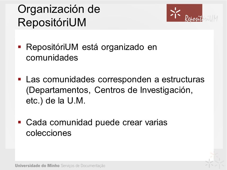 Organización de RepositóriUM