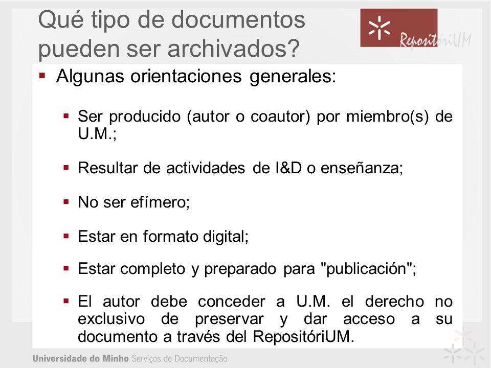Qué tipo de documentos pueden ser archivados