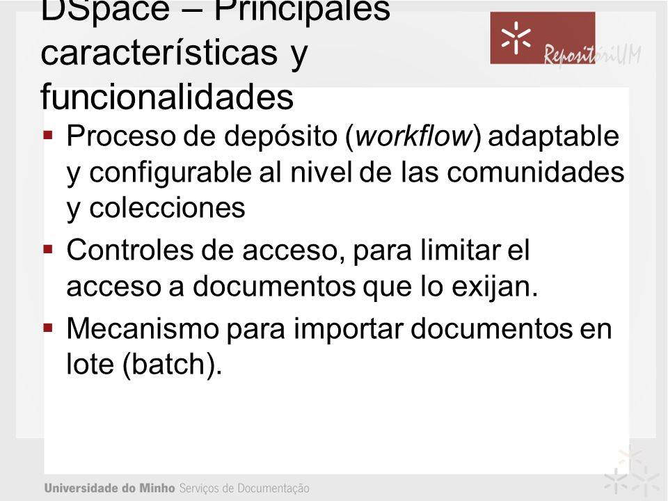 DSpace – Principales características y funcionalidades