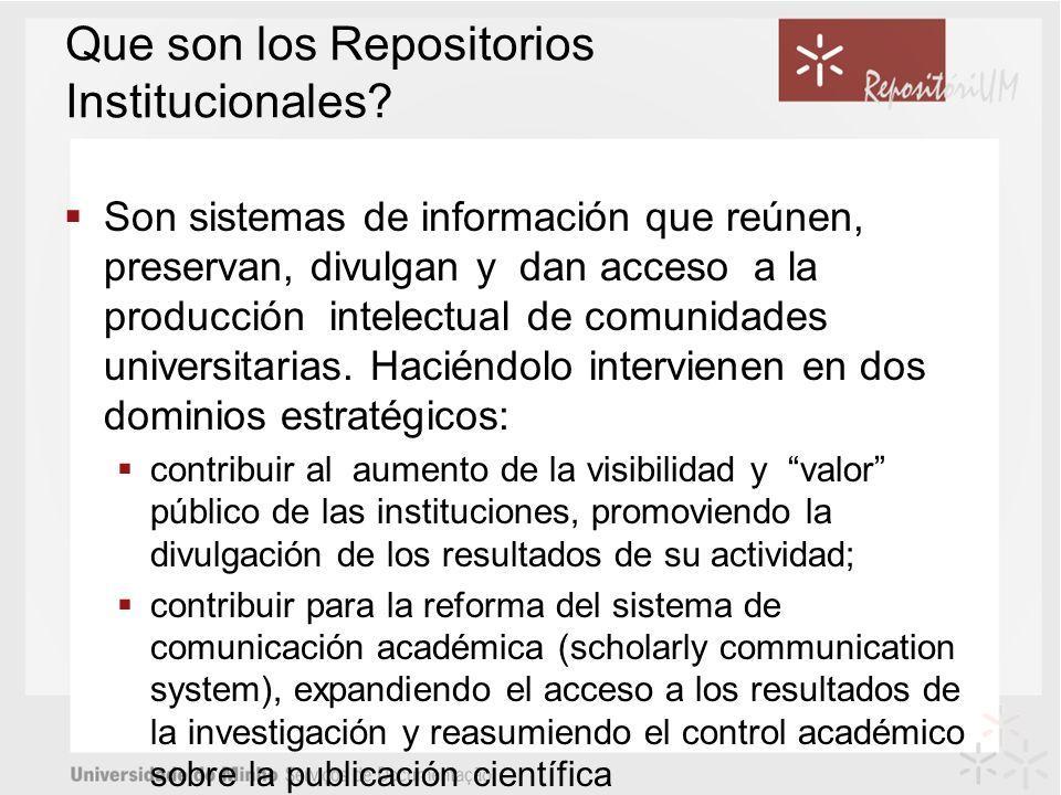 Que son los Repositorios Institucionales
