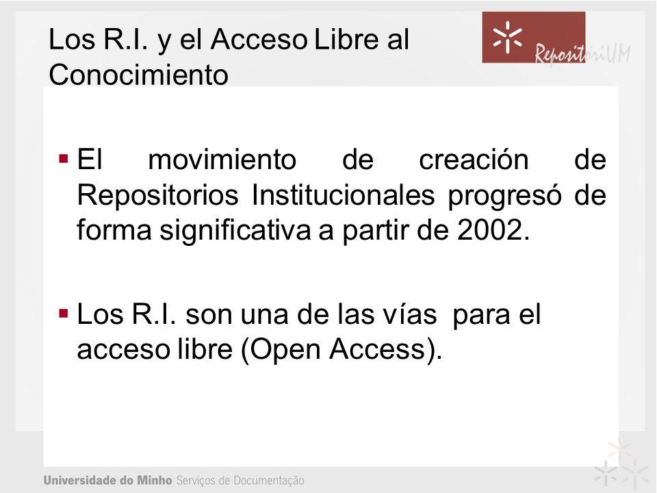 Los R.I. y el Acceso Libre al Conocimiento