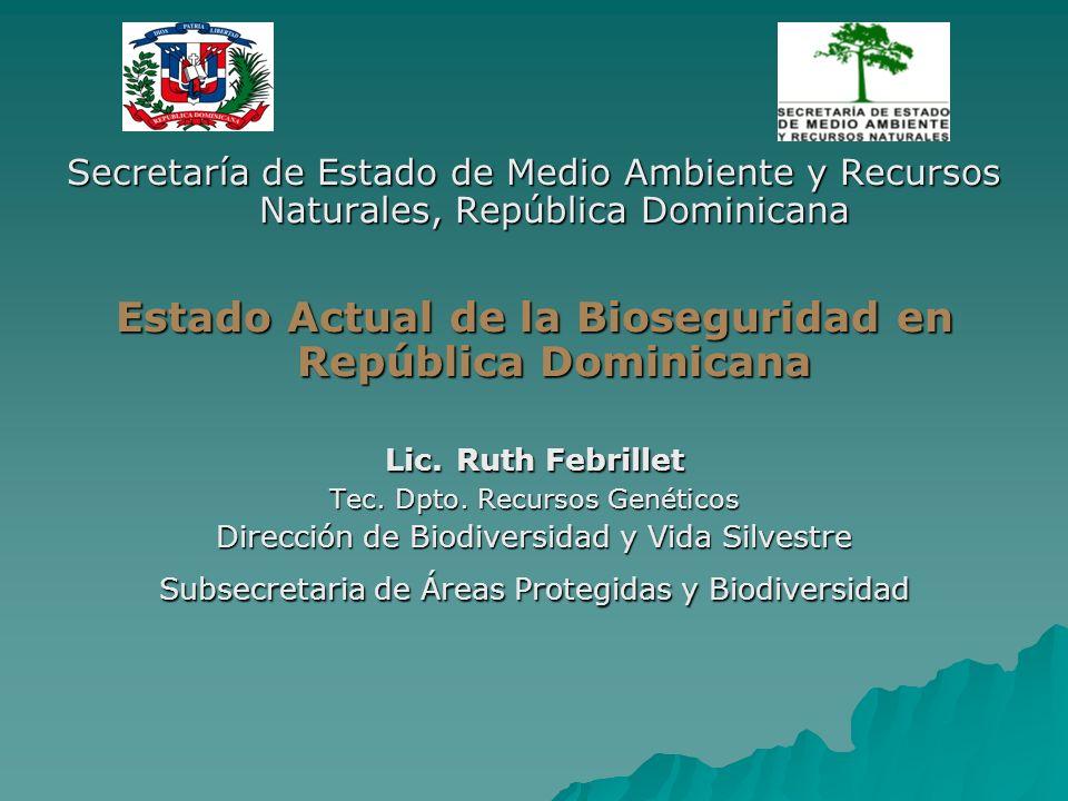 Estado Actual de la Bioseguridad en República Dominicana