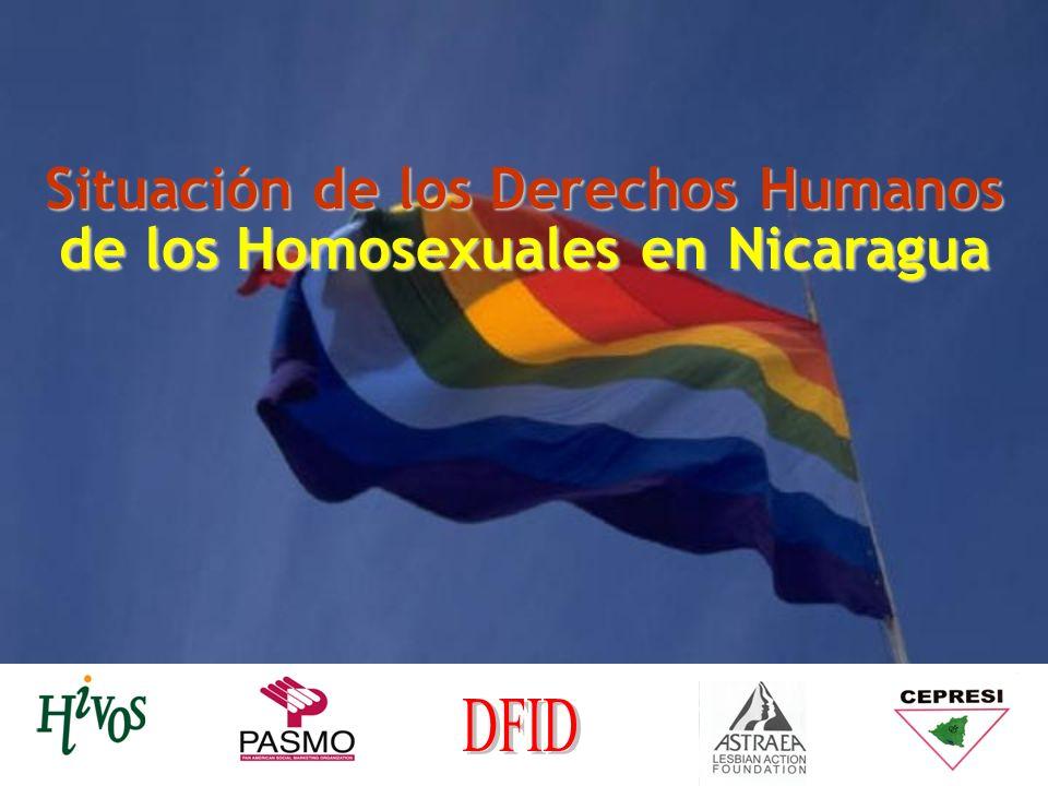 Situación de los Derechos Humanos de los Homosexuales en Nicaragua