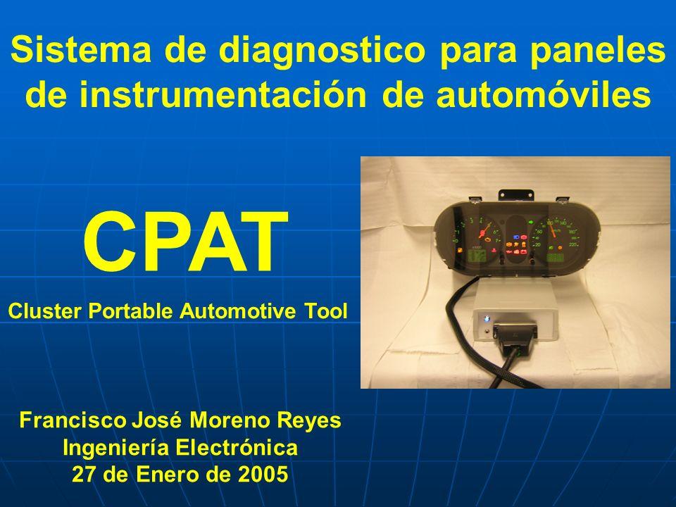 Sistema de diagnostico para paneles de instrumentación de automóviles