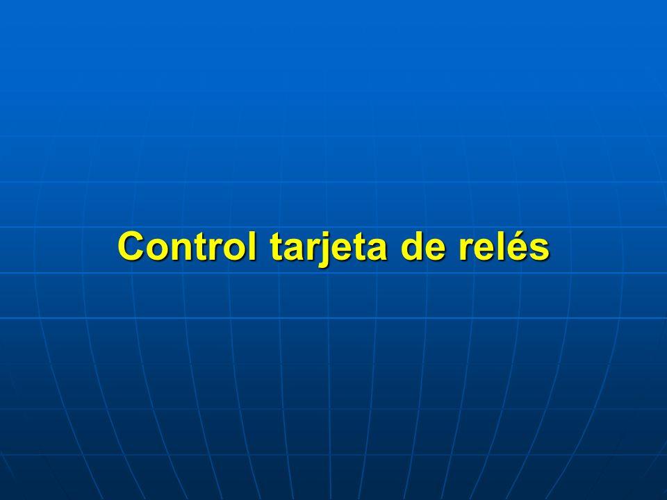 Control tarjeta de relés
