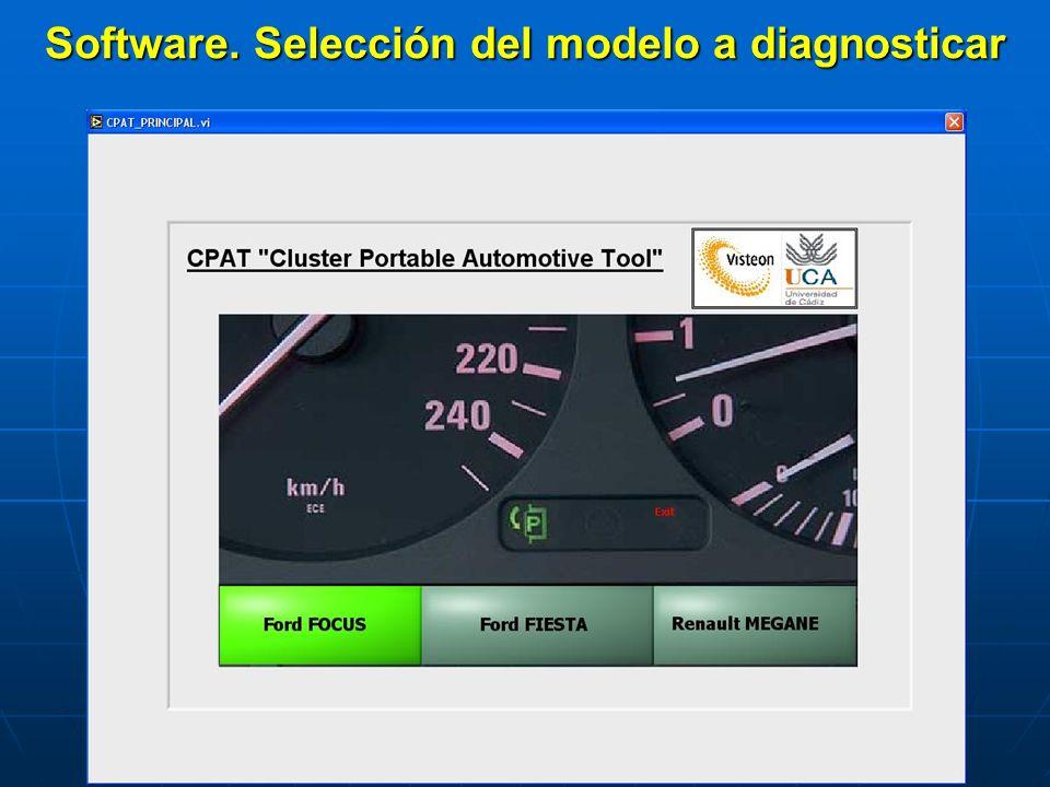 Software. Selección del modelo a diagnosticar
