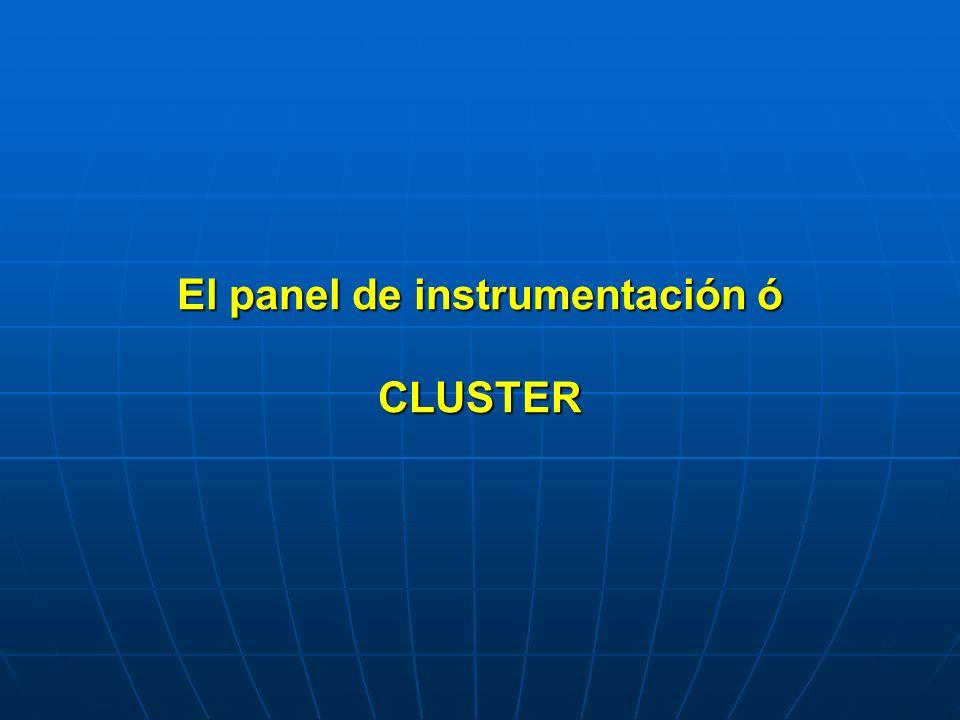 El panel de instrumentación ó CLUSTER