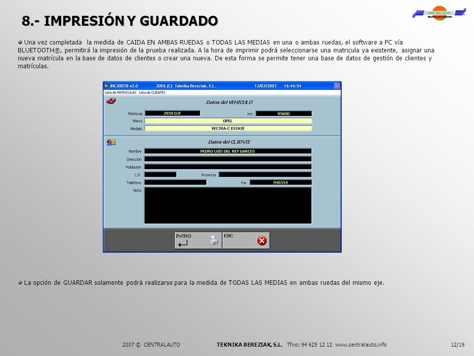 8.- IMPRESIÓN Y GUARDADO