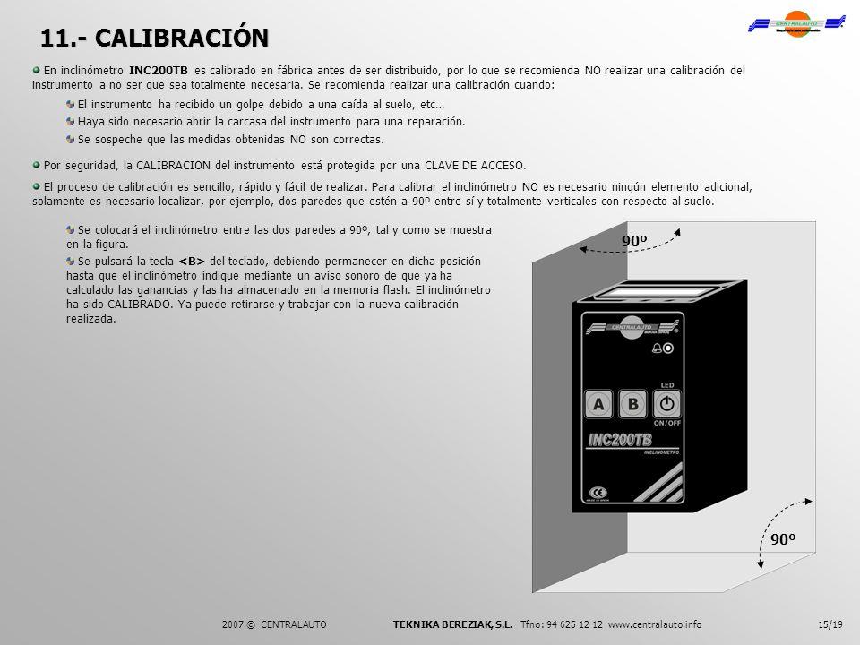 11.- CALIBRACIÓN