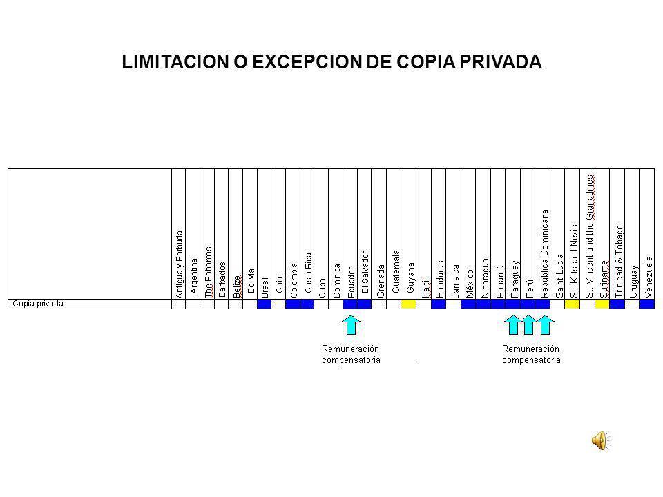 LIMITACION O EXCEPCION DE COPIA PRIVADA