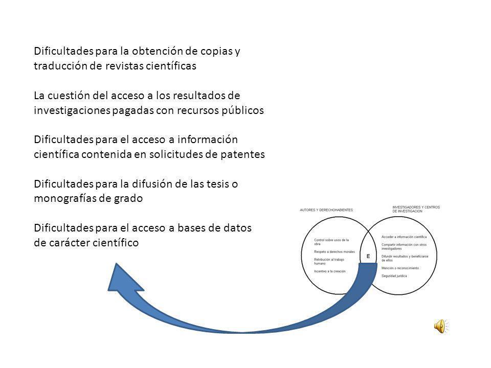 Dificultades para la difusión de las tesis o monografías de grado