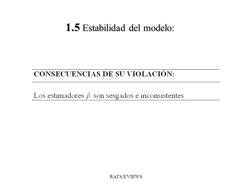 1.5 Estabilidad del modelo: