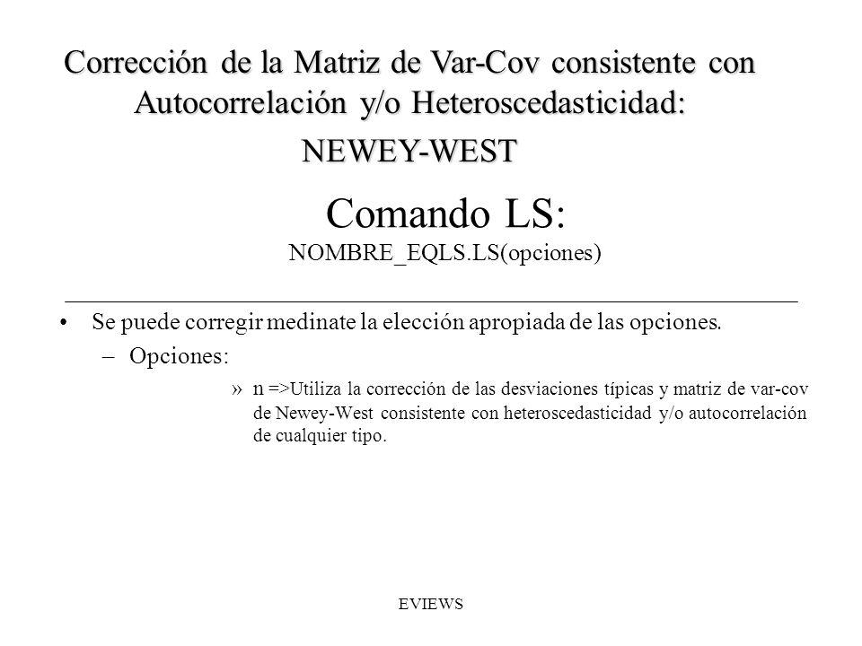 Comando LS: NOMBRE_EQLS.LS(opciones)