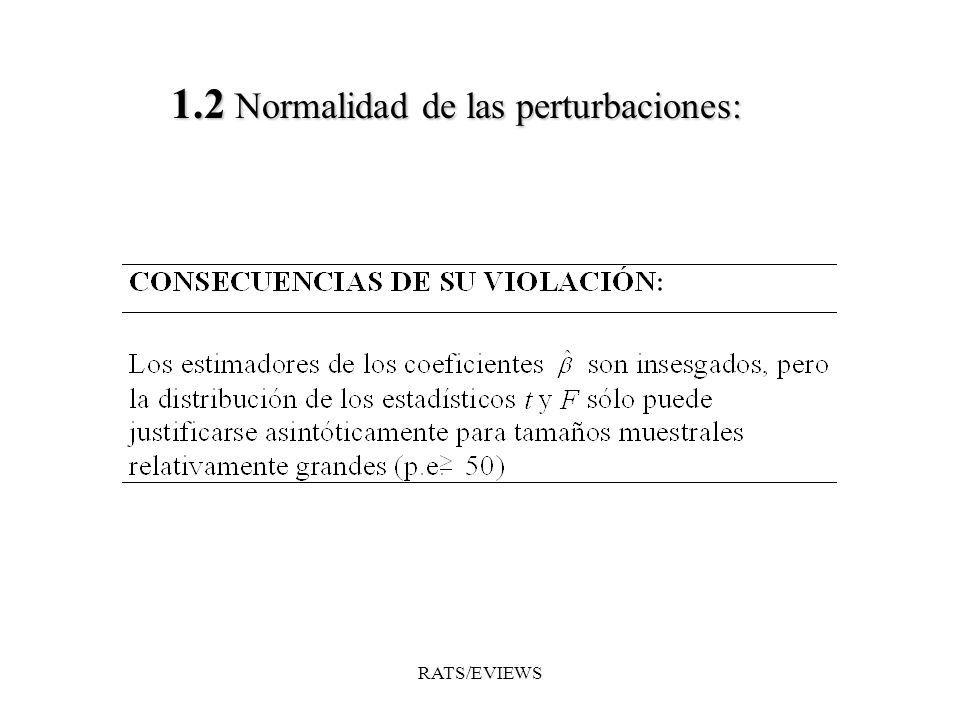 1.2 Normalidad de las perturbaciones: