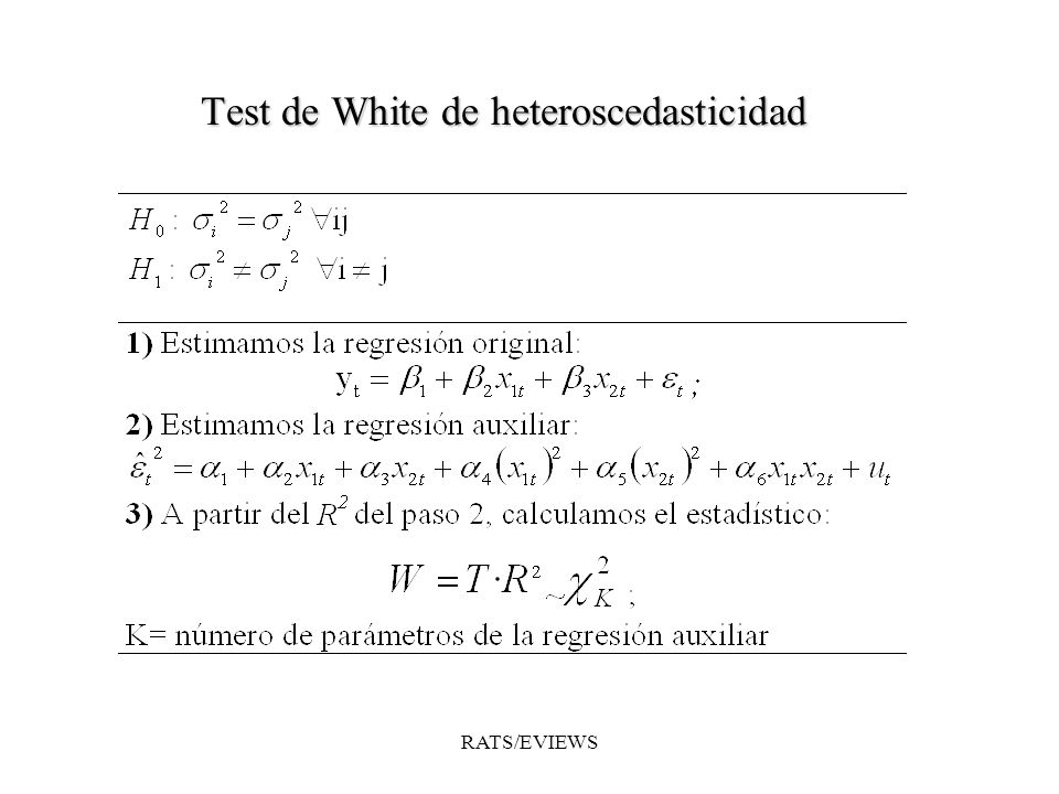 Test de White de heteroscedasticidad