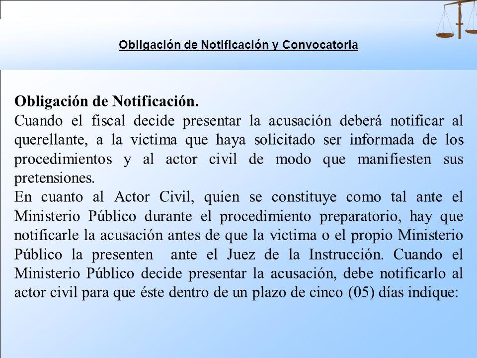 Obligación de Notificación y Convocatoria