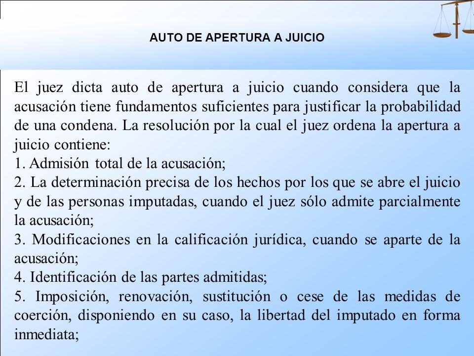 AUTO DE APERTURA A JUICIO