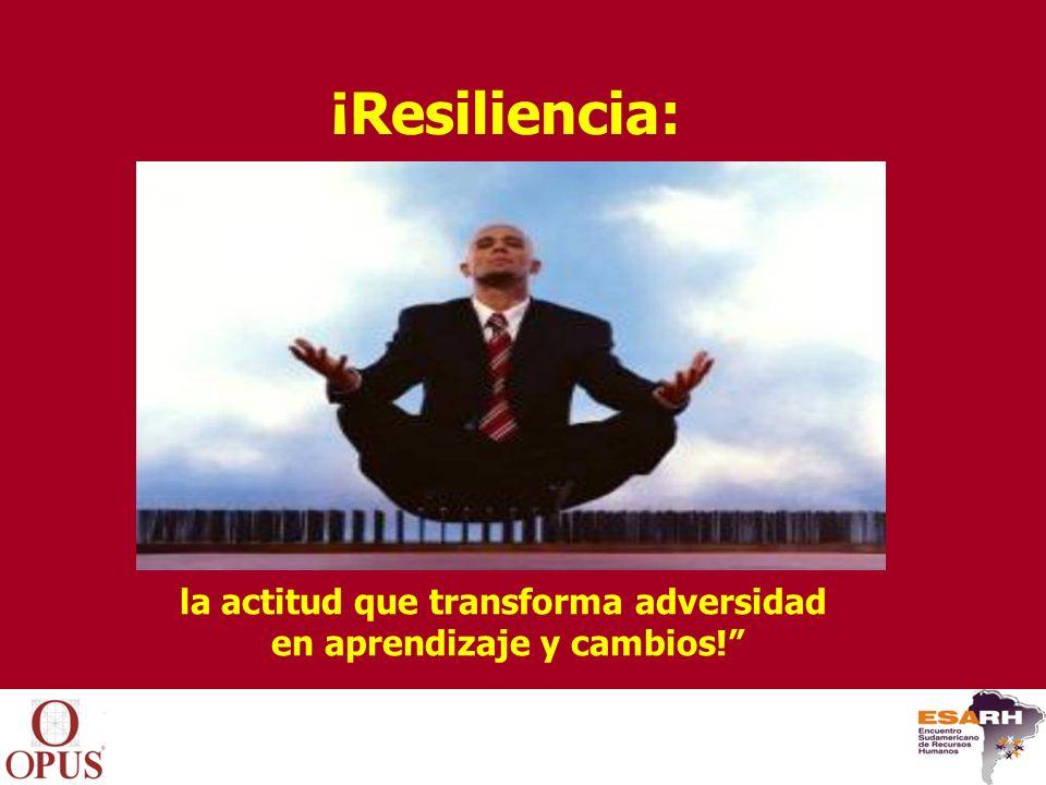 la actitud que transforma adversidad en aprendizaje y cambios!