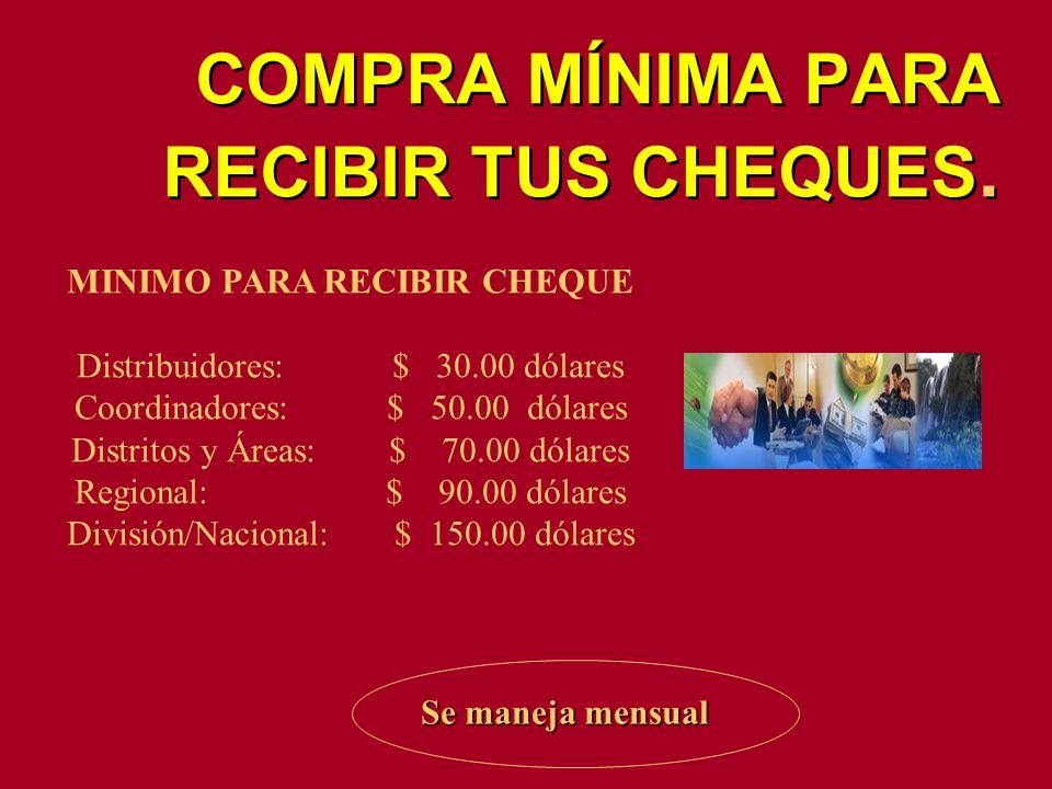 MINIMO PARA RECIBIR CHEQUE