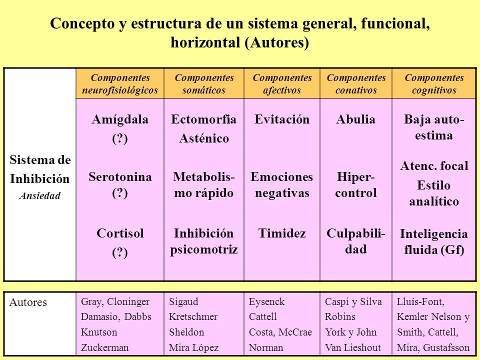 Concepto y estructura de un sistema general, funcional, horizontal (Autores)