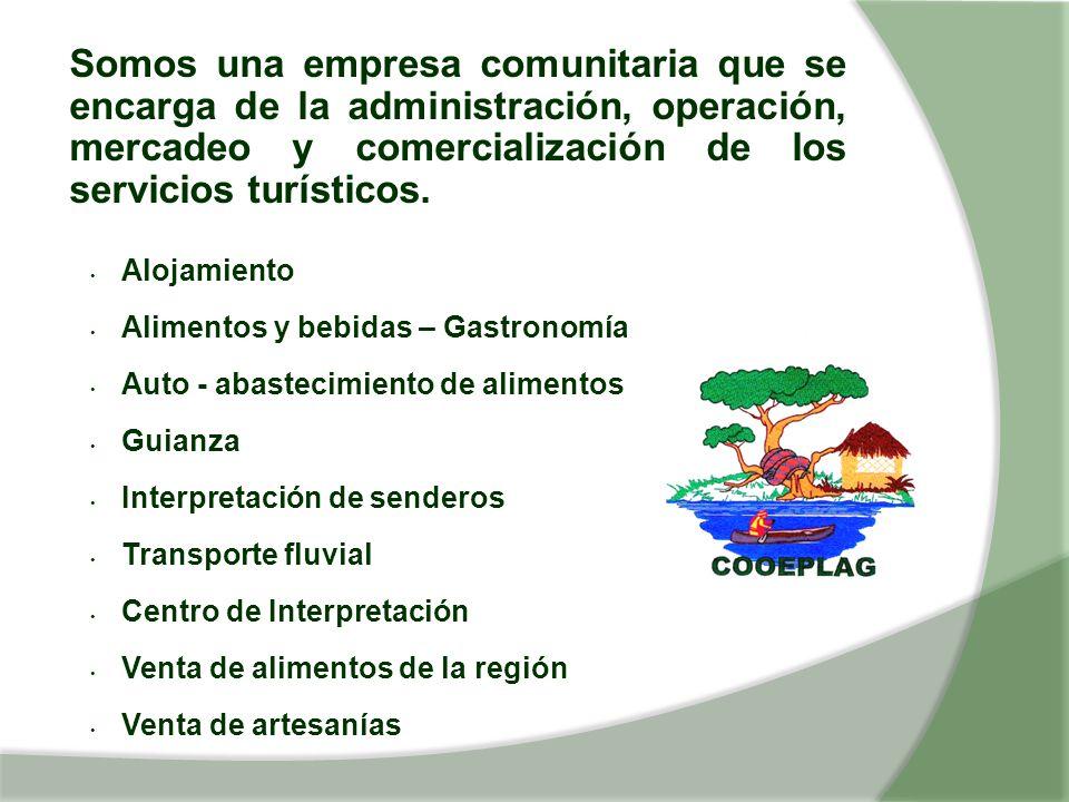 Somos una empresa comunitaria que se encarga de la administración, operación, mercadeo y comercialización de los servicios turísticos.