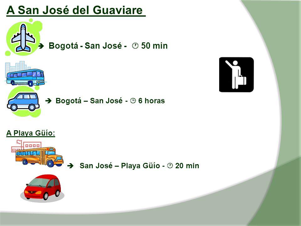 A San José del Guaviare  Bogotá - San José -  50 min