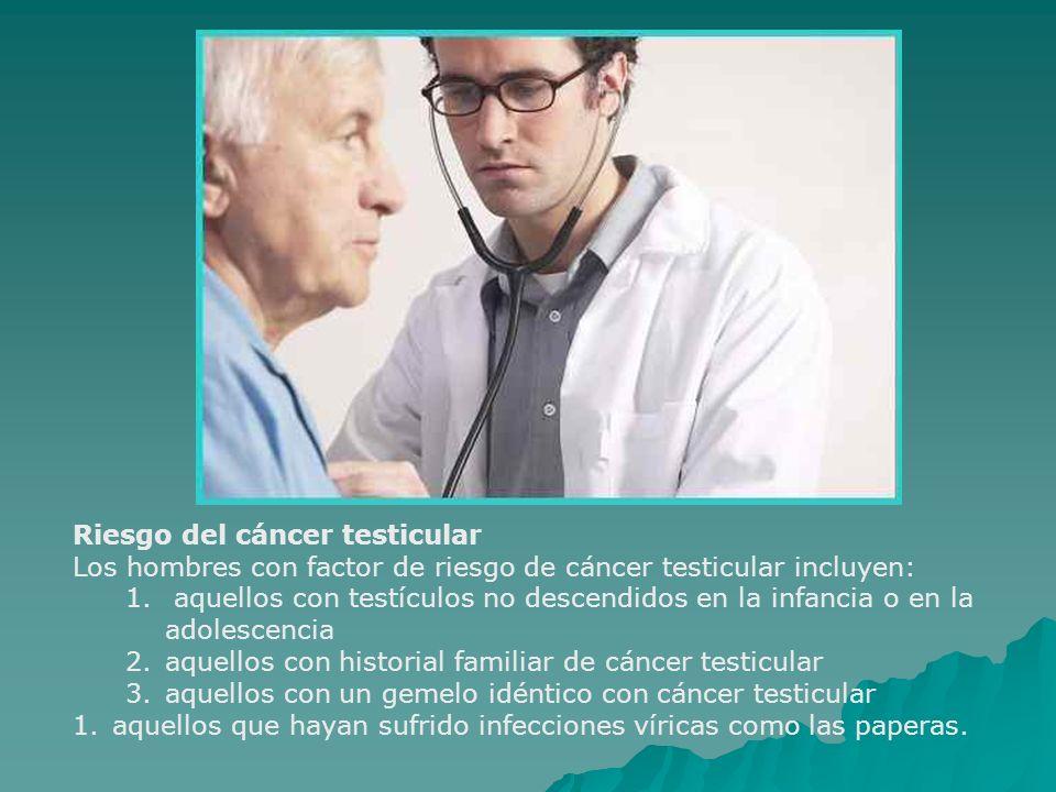 Riesgo del cáncer testicular