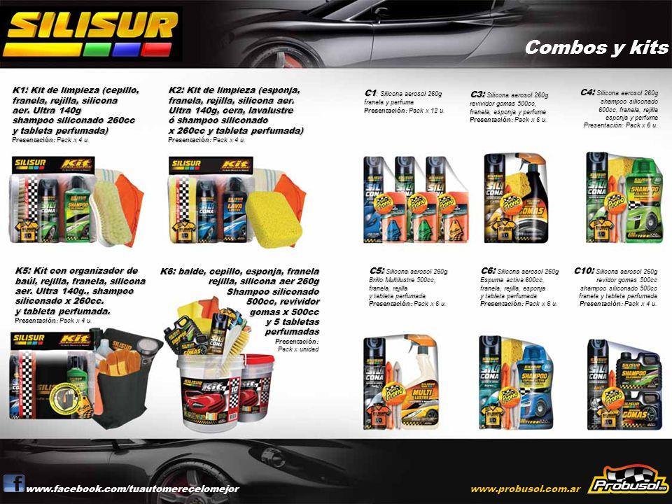 Combos y kits www.facebook.com/tuautomerecelomejor www.probusol.com.ar