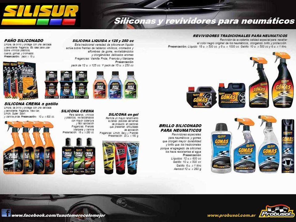 Siliconas y revividores para neumáticos