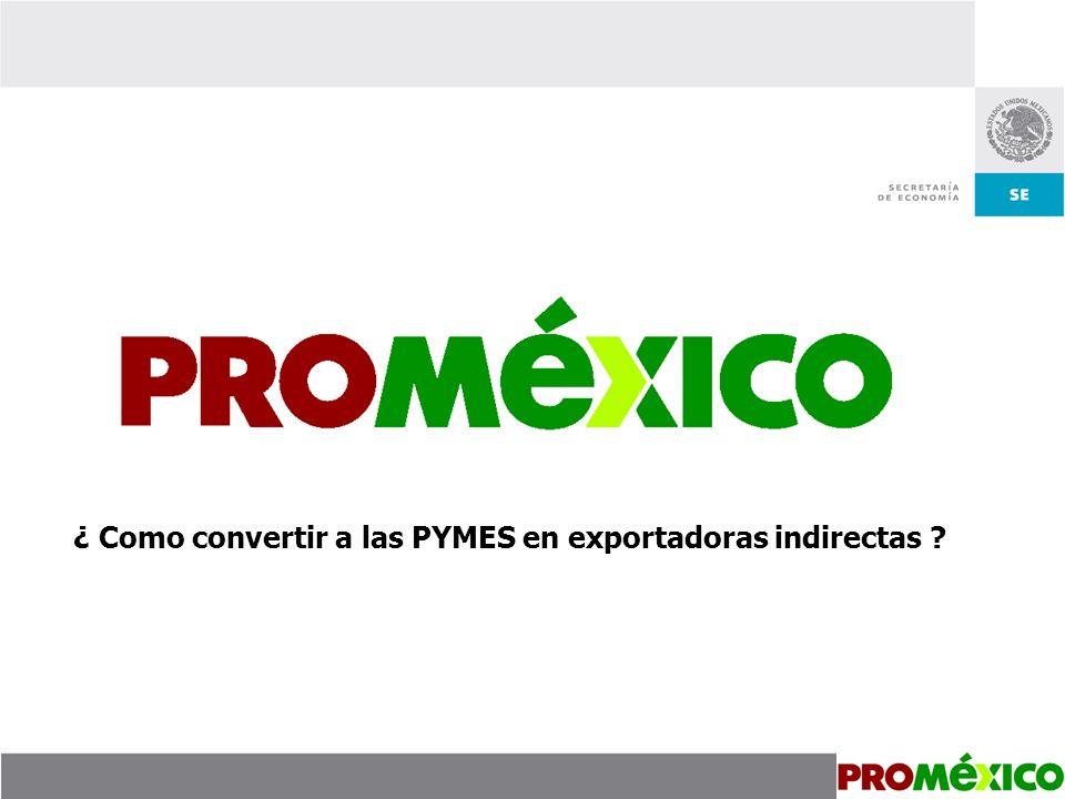 ¿ Como convertir a las PYMES en exportadoras indirectas