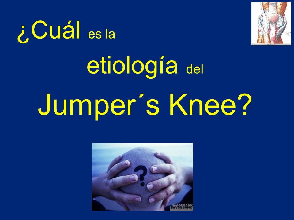 ¿Cuál es la etiología del Jumper´s Knee