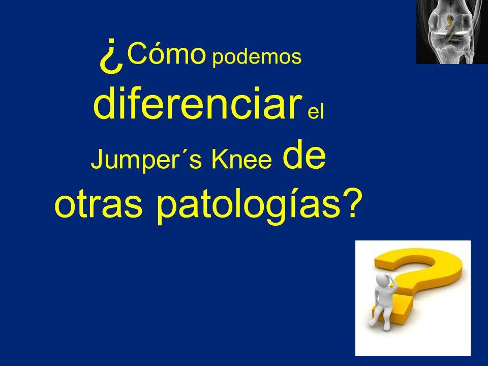 ¿Cómo podemos diferenciar el Jumper´s Knee de otras patologías