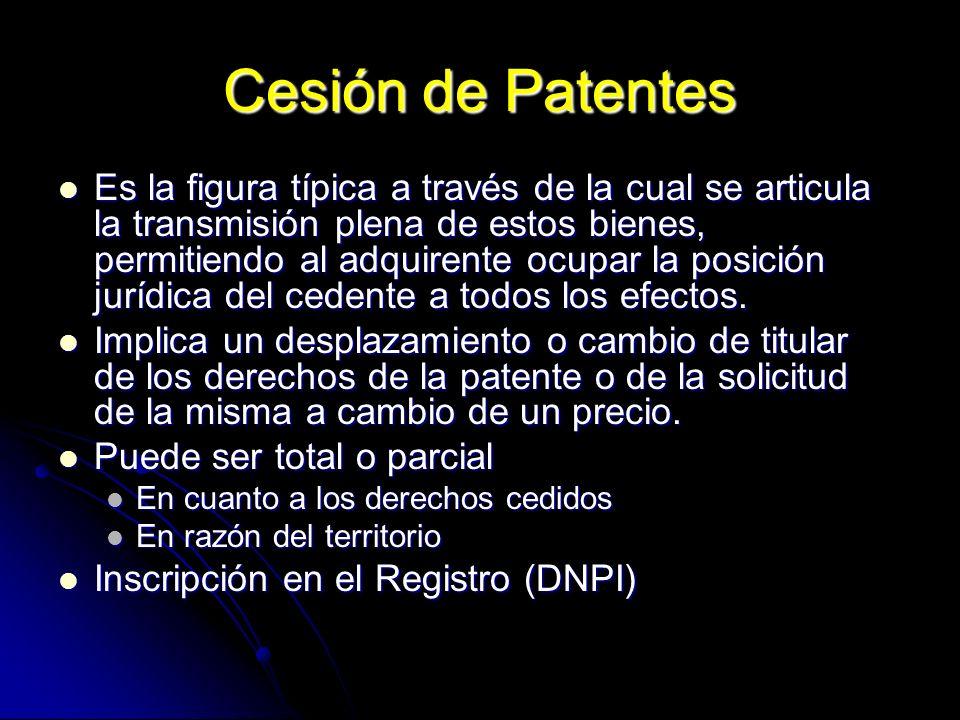 Cesión de Patentes