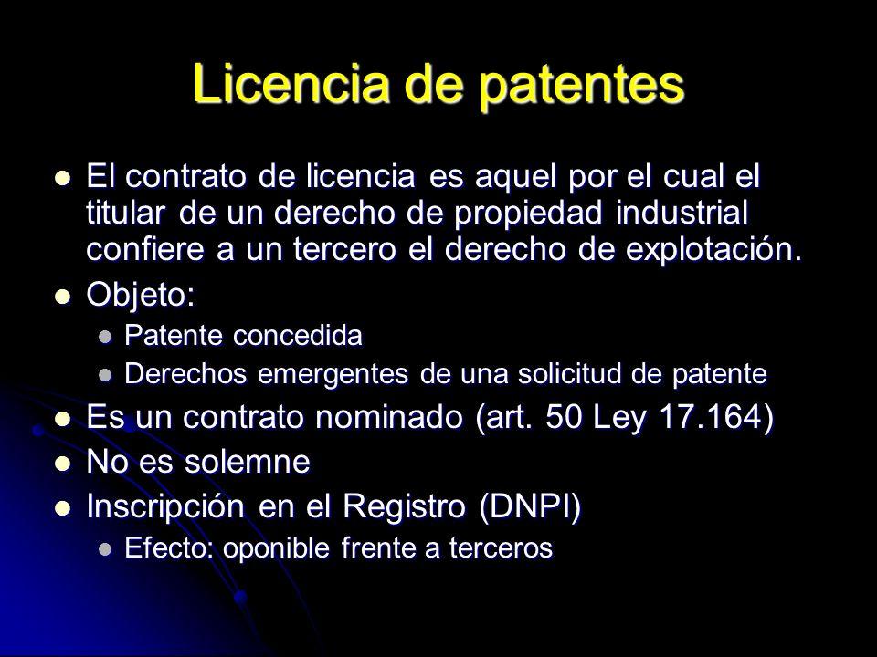 Licencia de patentes