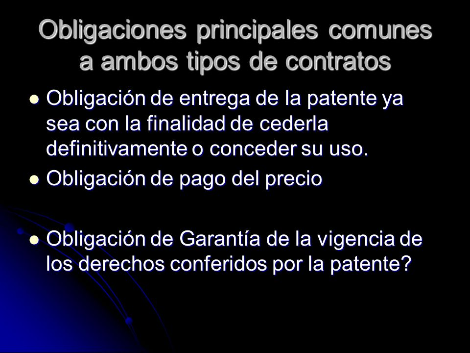 Obligaciones principales comunes a ambos tipos de contratos