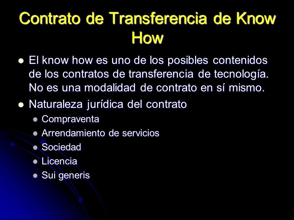 Contrato de Transferencia de Know How