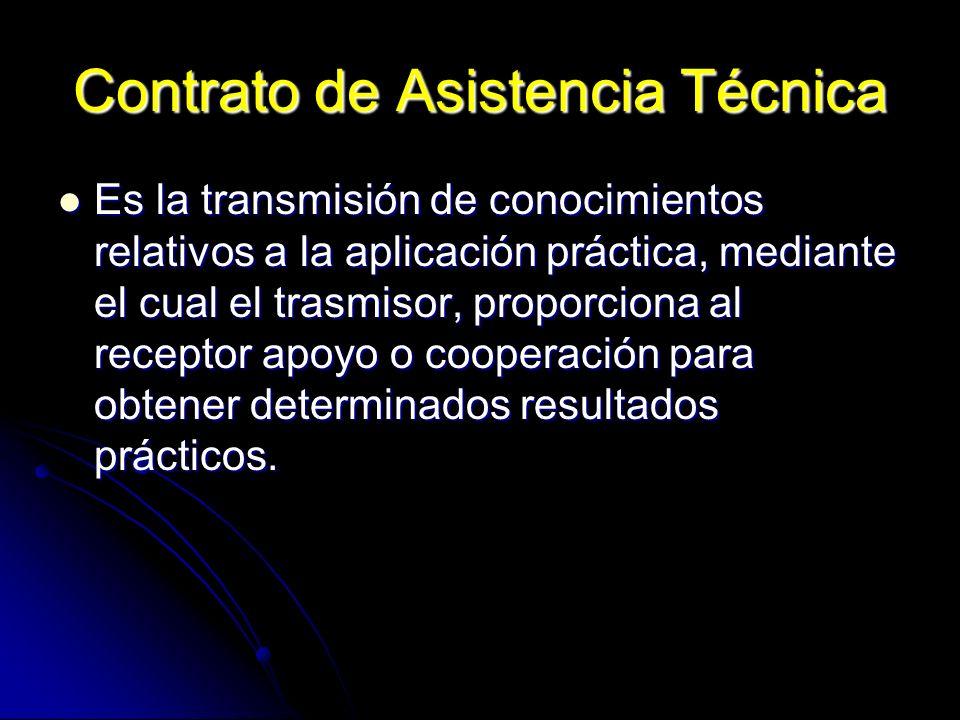 Contrato de Asistencia Técnica