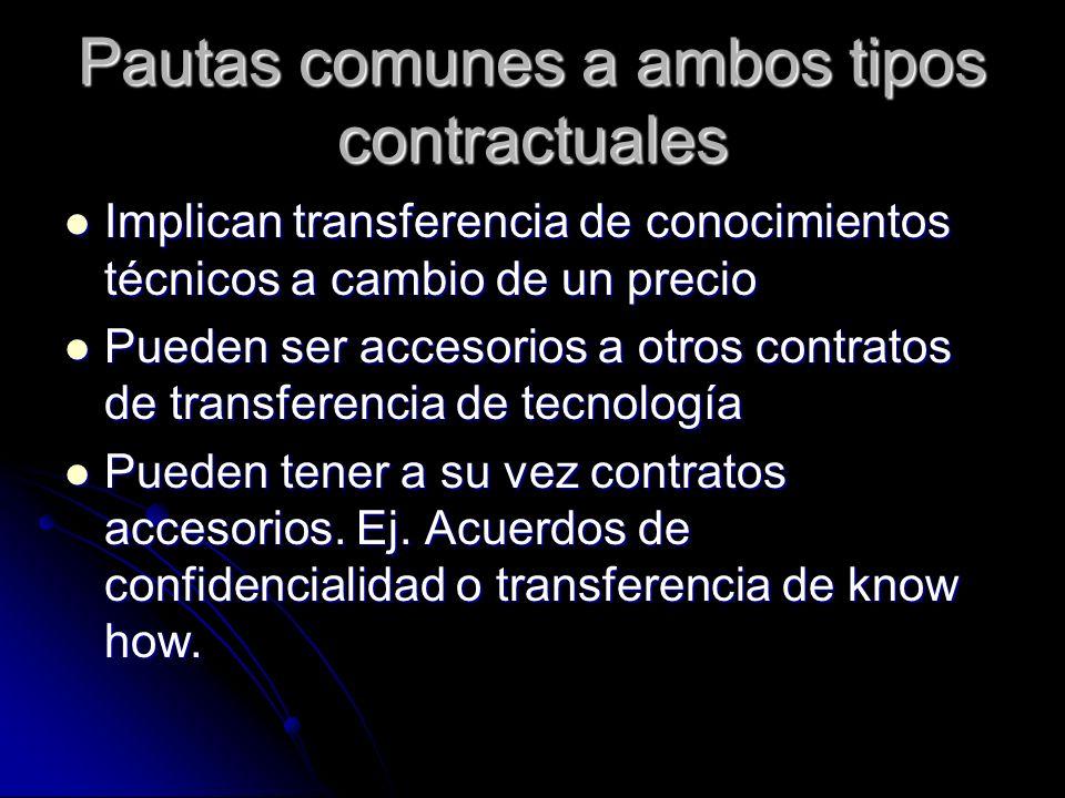 Pautas comunes a ambos tipos contractuales