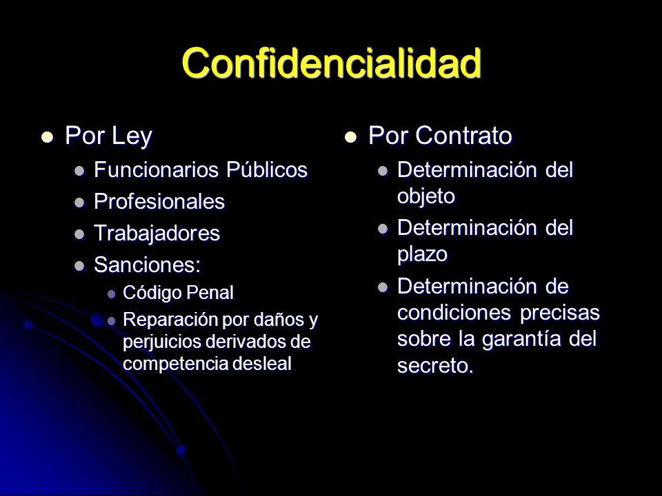 Confidencialidad Por Ley Por Contrato Funcionarios Públicos