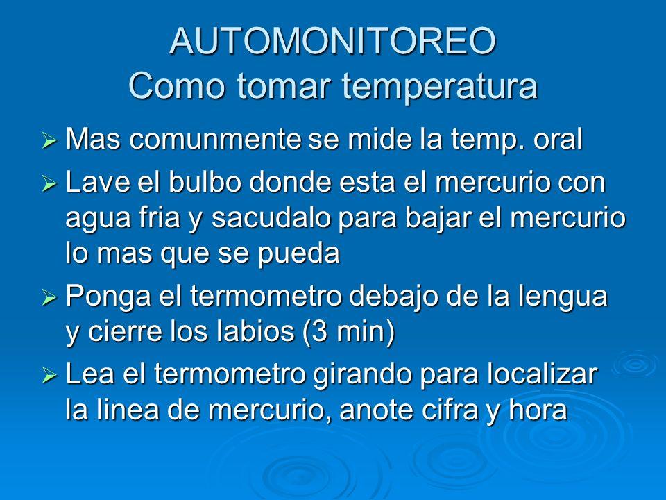 AUTOMONITOREO Como tomar temperatura
