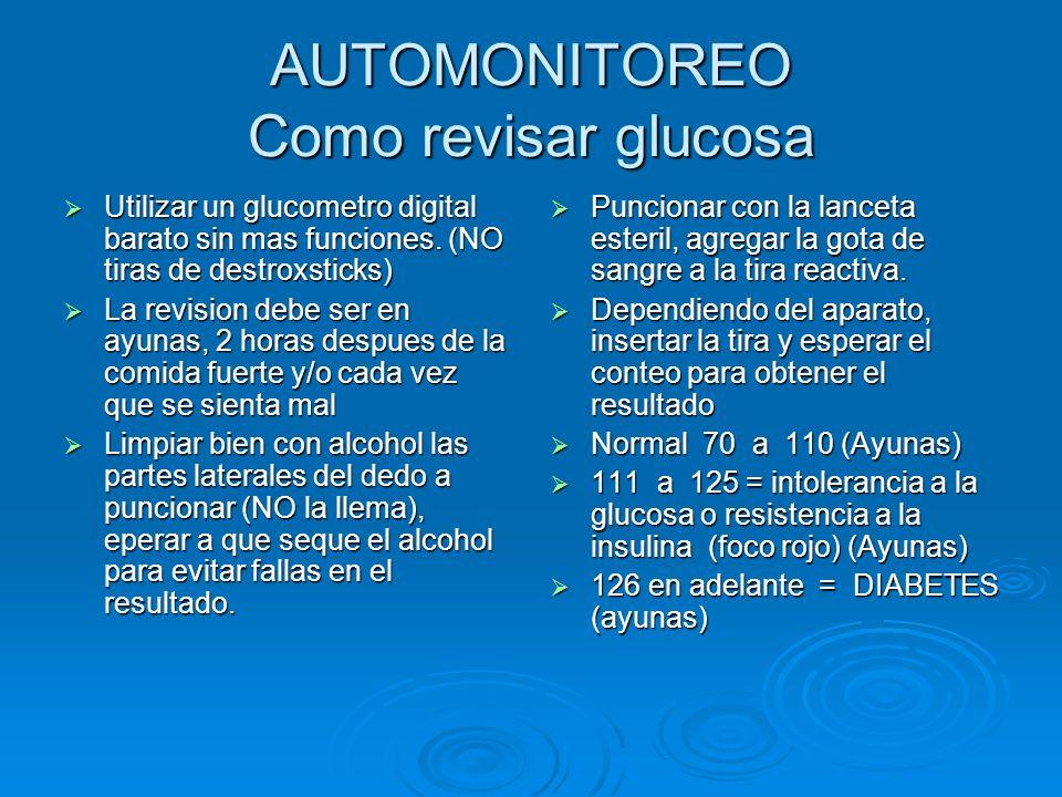 AUTOMONITOREO Como revisar glucosa