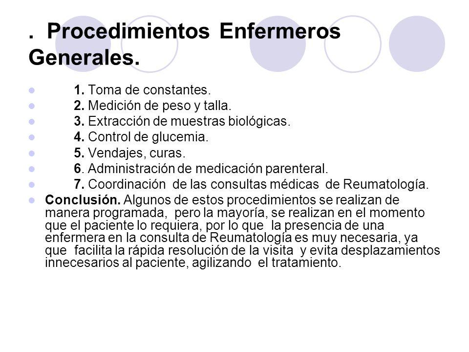. Procedimientos Enfermeros Generales.