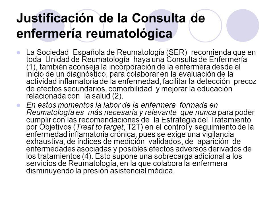 Justificación de la Consulta de enfermería reumatológica
