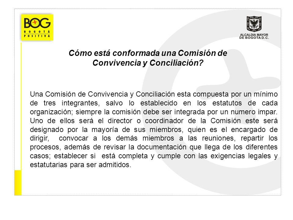 Cómo está conformada una Comisión de Convivencia y Conciliación