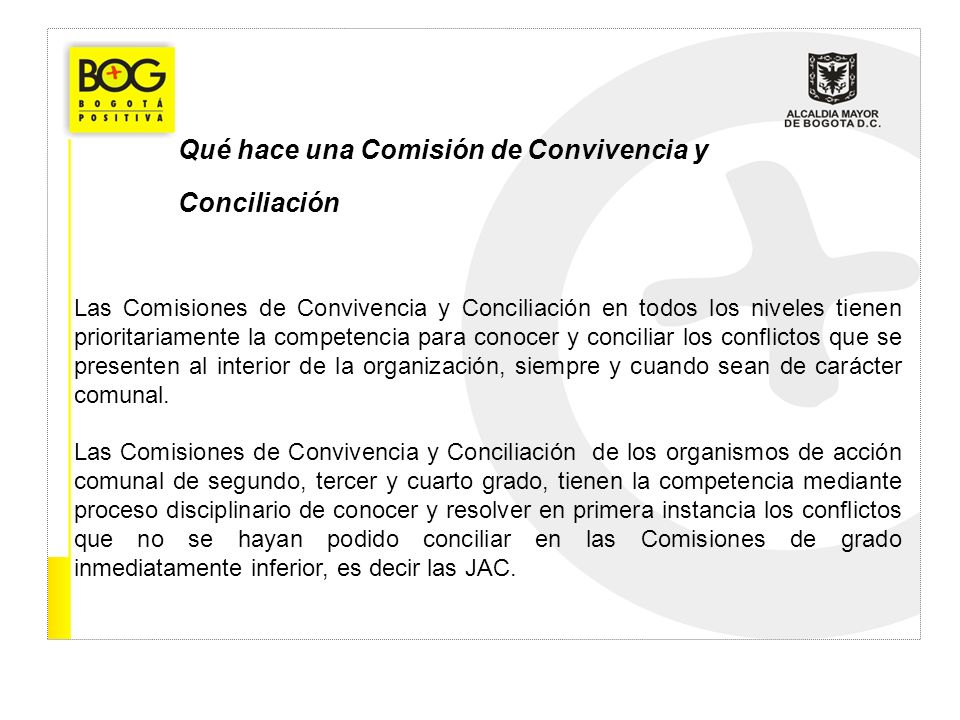 Qué hace una Comisión de Convivencia y Conciliación