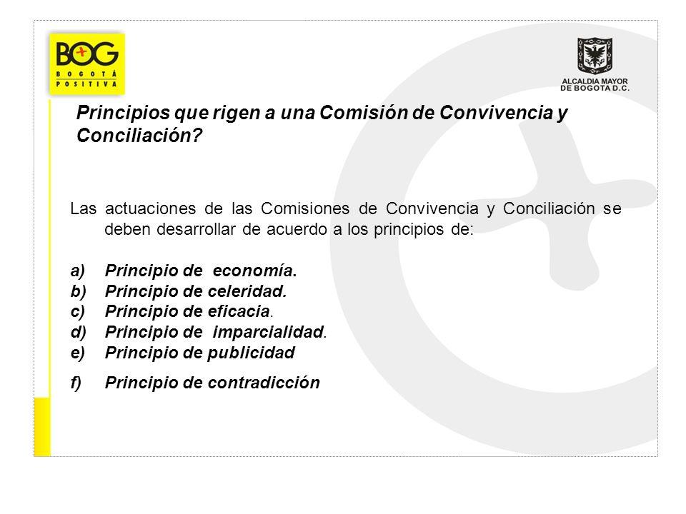 Principios que rigen a una Comisión de Convivencia y Conciliación