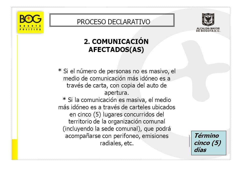 2. COMUNICACIÓN AFECTADOS(AS)