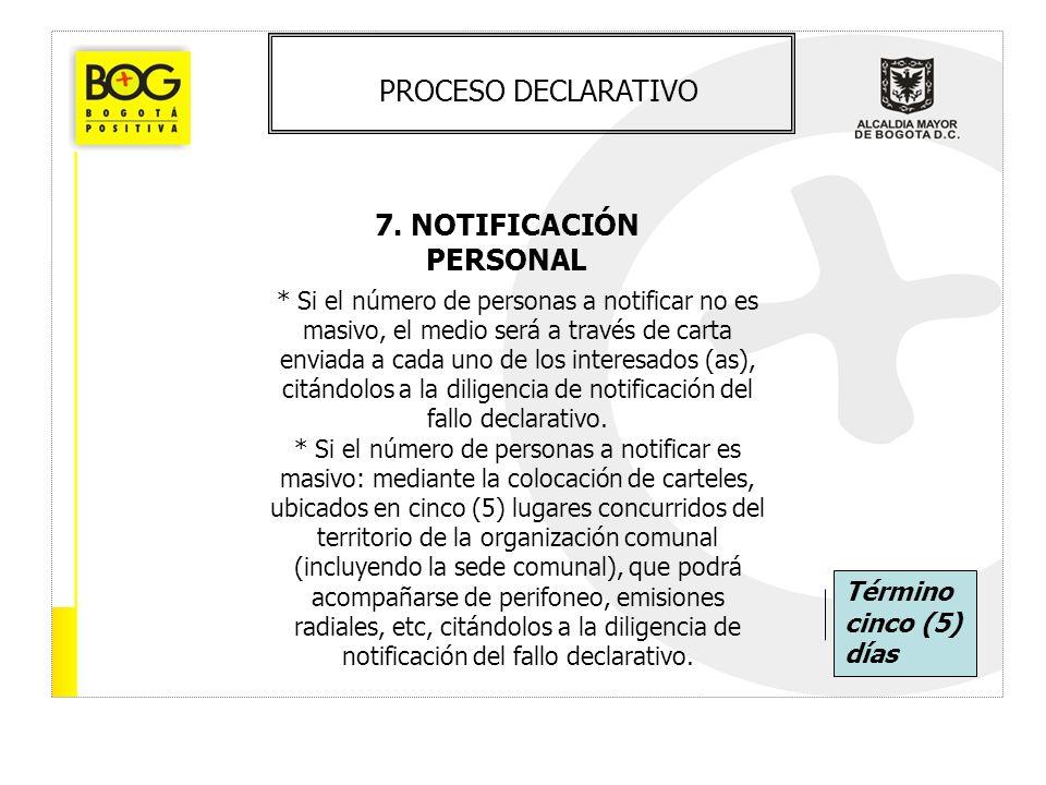 7. NOTIFICACIÓN PERSONAL